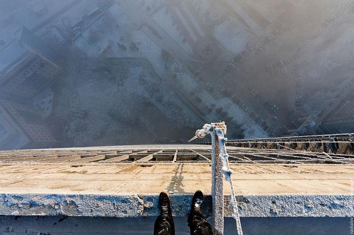 На находимся на здание КАТЭКНИИуголь: 28-этажная (104 м) башня, которую видно почти из любой точки К