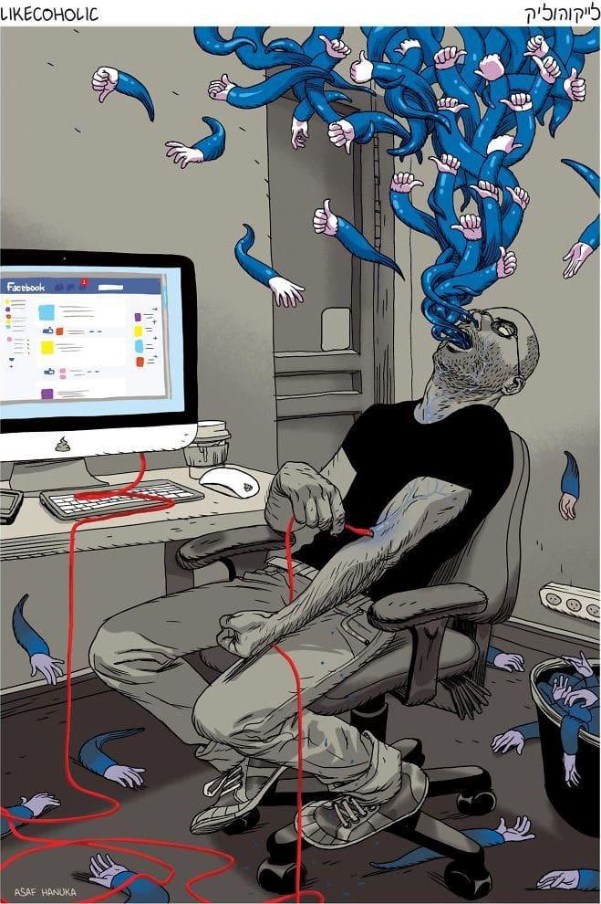 Иллюстрации израильского художника о реалиях нашей жизни, которые заставляют задуматься