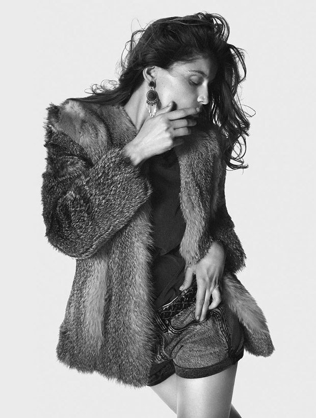 Laetitia Casta & Zoe Kravitz Model Saint Laurent Spring 2018 Collection