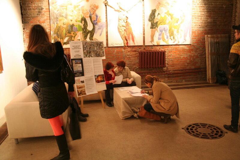 Сбор подписей на территории артгалерей бывшего ВИНЗАВОДА