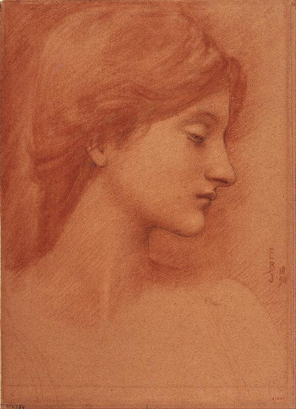 Edward Burne-Jones - Study of a Female Head
