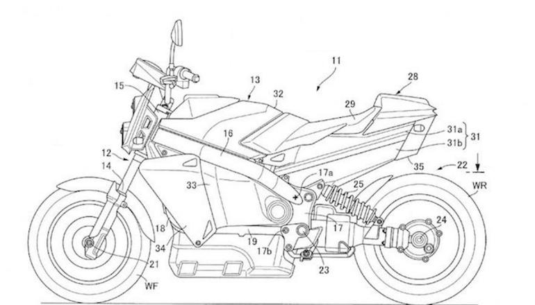 Компания Honda патентует водородный нейкед (эскизы)
