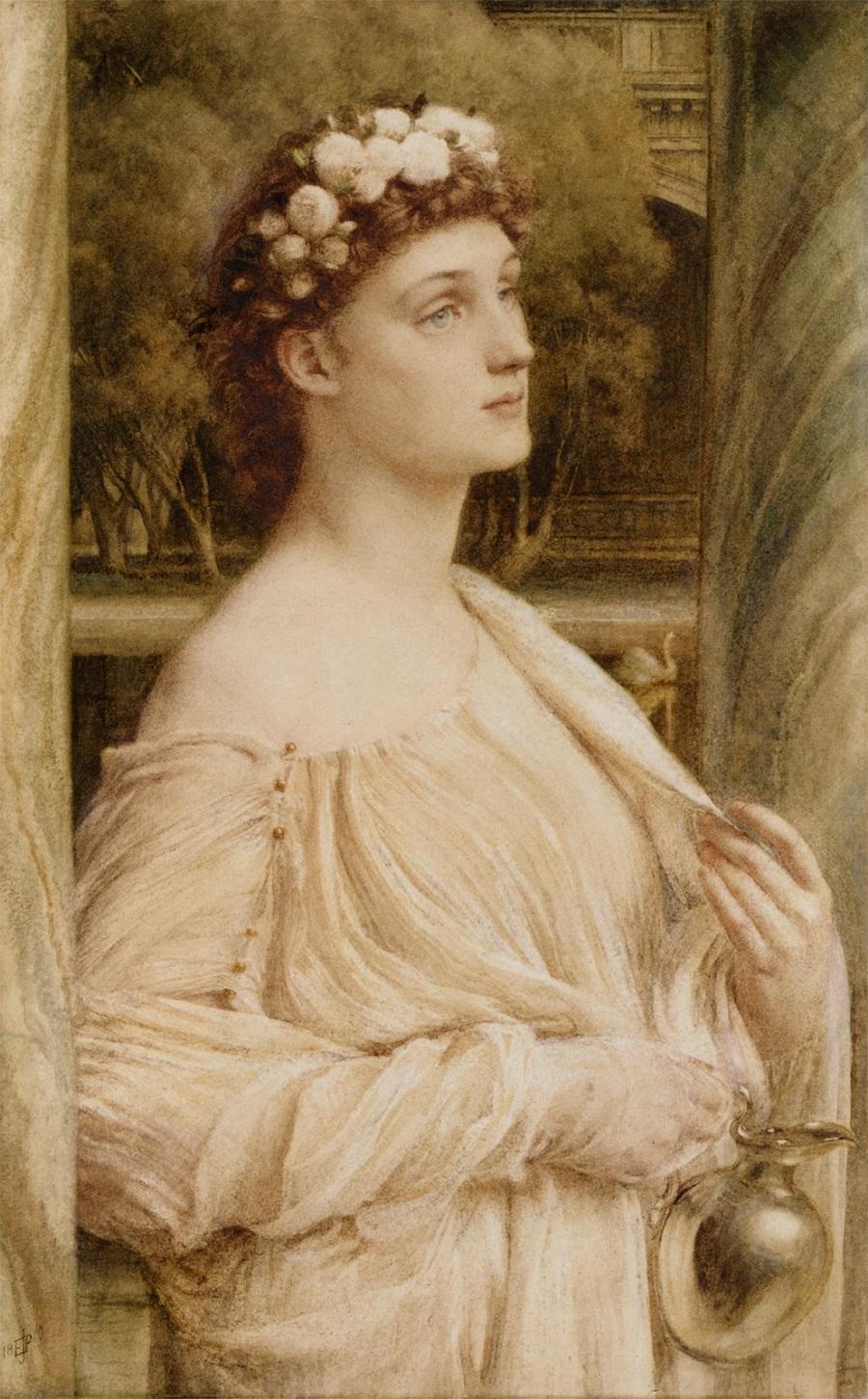 A vestal, portrait of Miss Violet Lindsay, 1880–1880