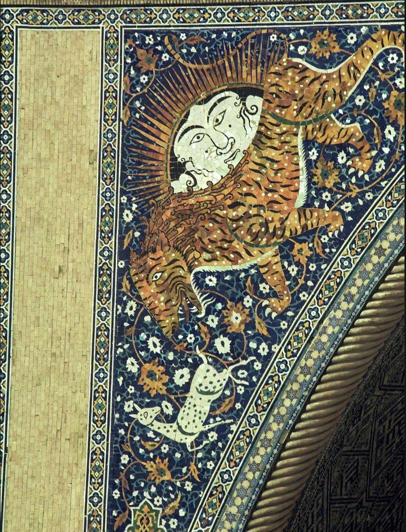 Самарканд. Мечеть. Фрагмент мозаики
