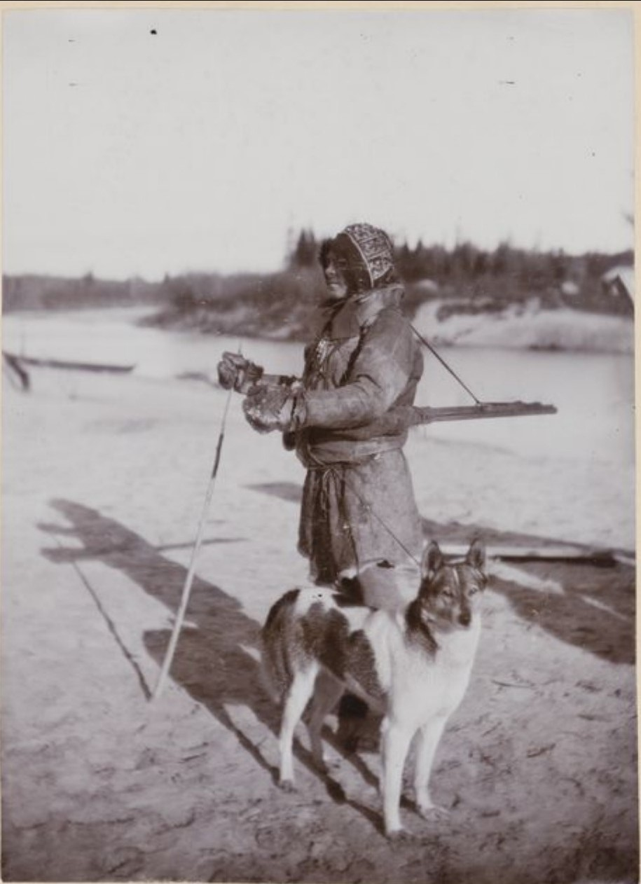Охотник с собакой. Васюган