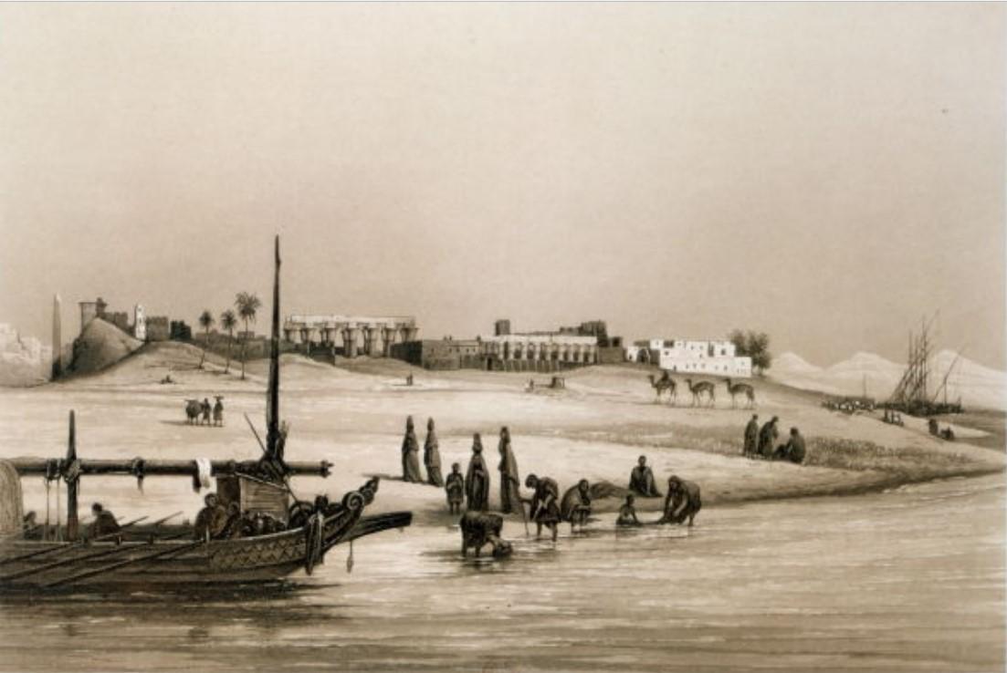 1841. Луксор. Вид с Нила