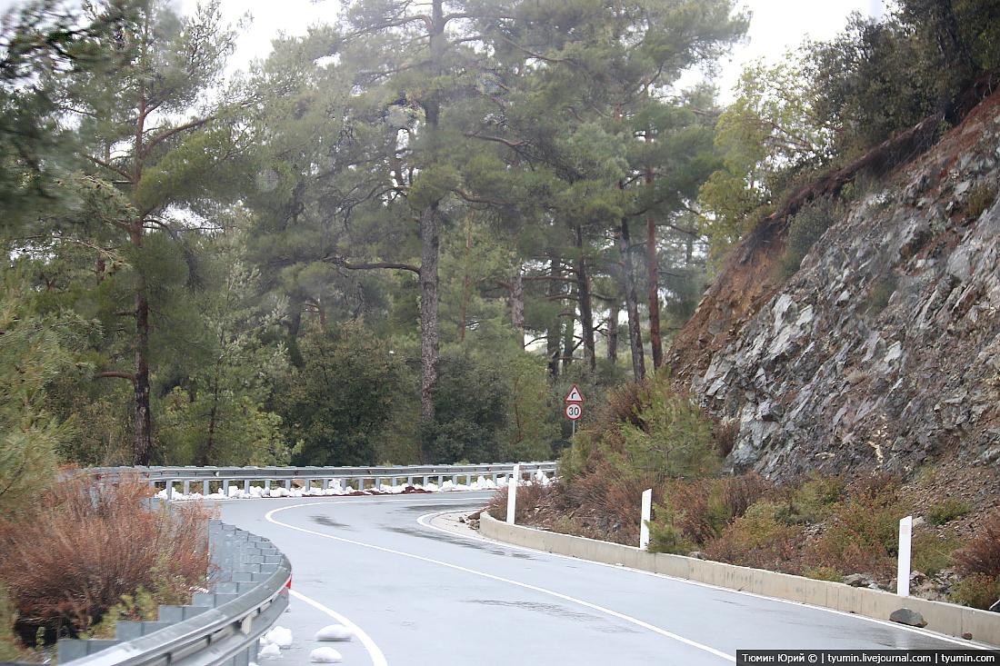 поездка в горы Кипра