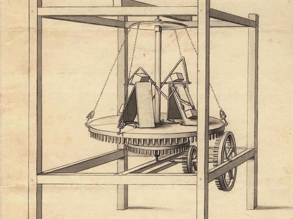 Вечный двигатель, 1813 год Человек по имени Чарльз Редхеффер изобрел машину, которая не останавливал