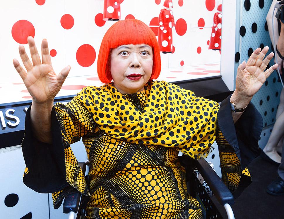 Презентация совместного дизайна Louis Vuitton и Яёи Кусамы в Нью-Йорке в 2012 году. Фото: Billy Farr