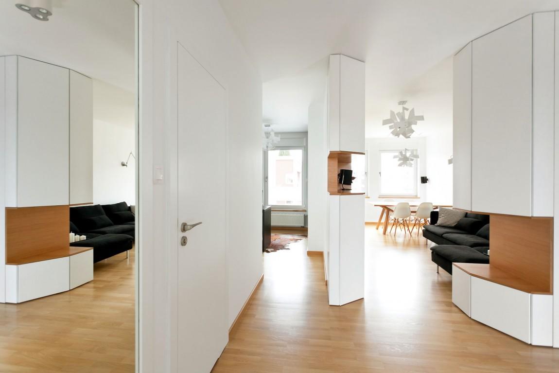 Белый интерьер квартиры «Авиатор» (17 фото)