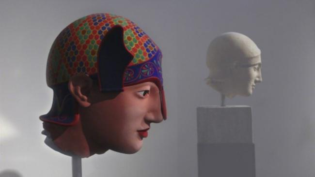 Голова воина из храма Афайи.
