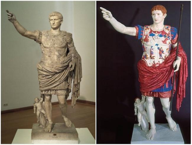 Статуя Октавиана Августа, римского императора и внучатого племянника Гая Юлия Цезаря.