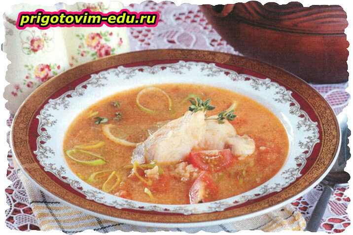 Рыбный суп по-болгарски с помидорами