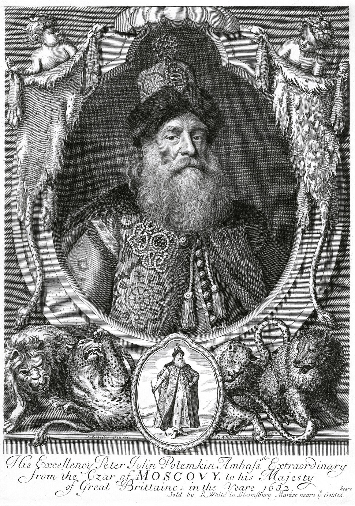 321. Князь Петр Иванович Потемкин, гравюра Вайта.