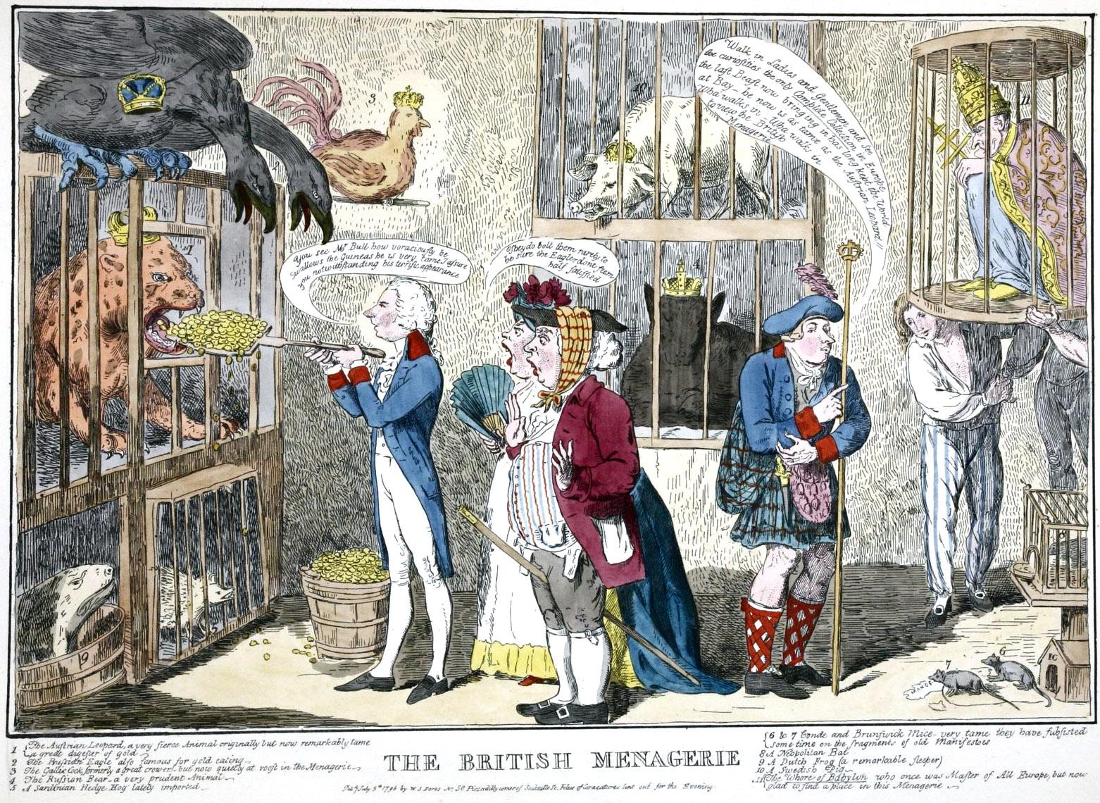 357. Британский зверинец 1796 года.