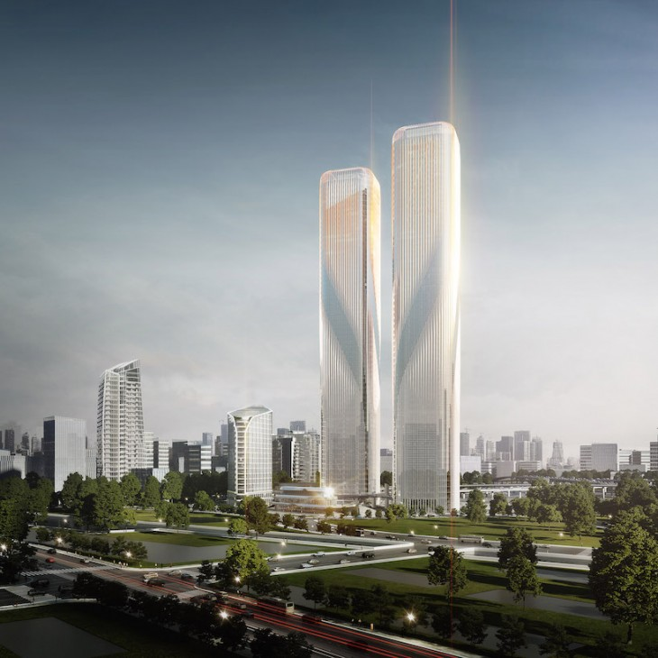 Zhejiang Gate Towers by LAVA