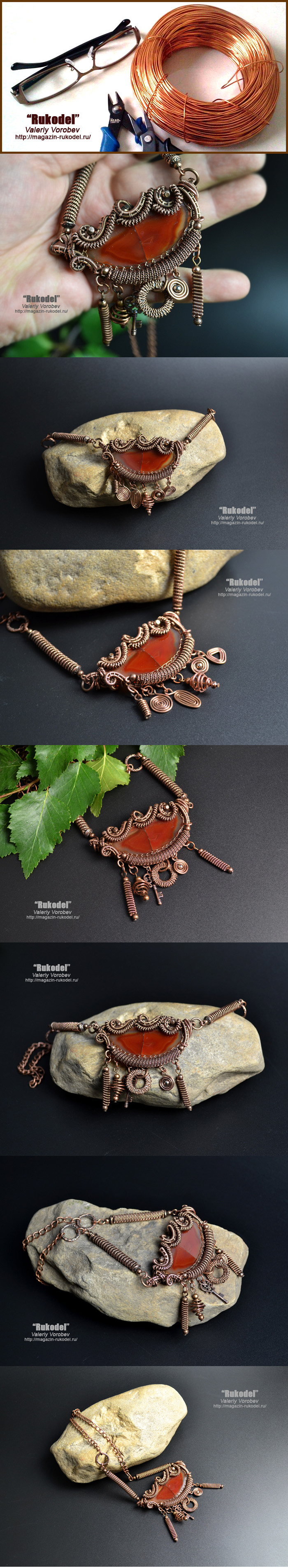 Ожерелье из проволоки своими руками.