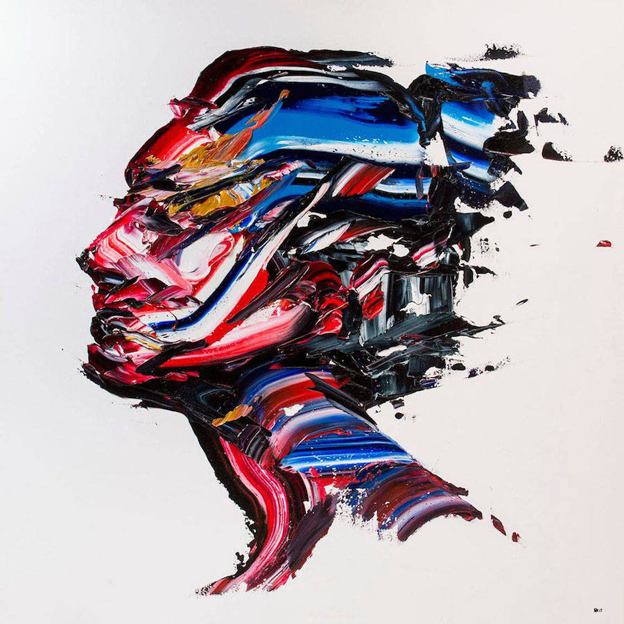 Impressive Multicolored Palette Knife Portraits (7 pics)