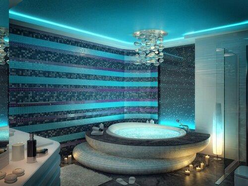 Подиум в ванной комнате