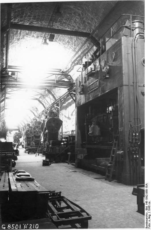 Niedersachswerfen, Produktion von V1 / V2