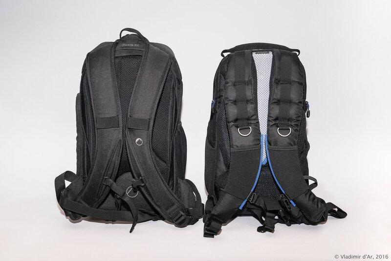Сравнение фото рюкзаков Lowepro Flipside 300 и Think Tank StreetWalker