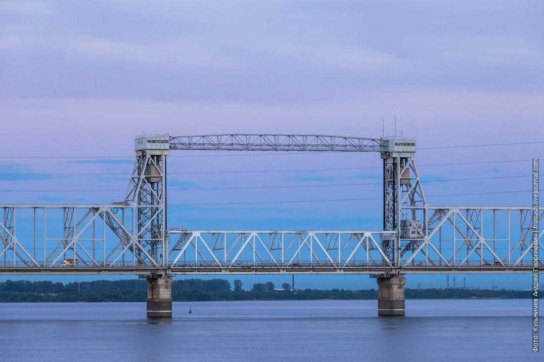 Вечерний Северодвинский мост