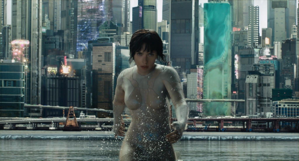 Scarlett Johansson plays The Major in Ghost in the Shell from Paramount Pictures and DreamWorks Pictures in theaters March 31, 2017.