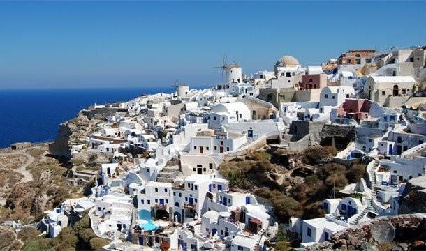 24. Caldera (Санторини, Греция) Несмотря на сегодняшний кризис в Греции, греки знают толк в ресторан
