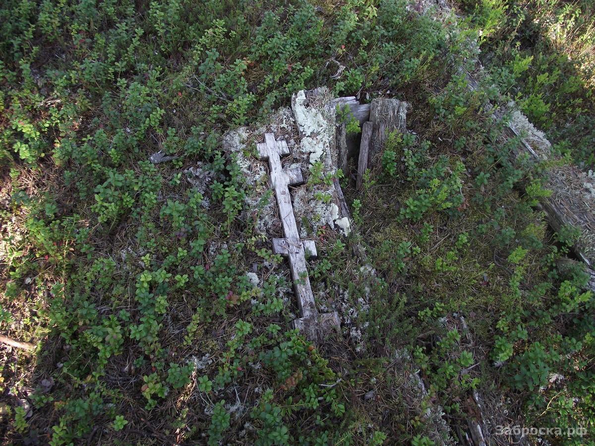 6.? Старинное саамское кладбище. В XIX веке саами уже были крещеными, но крест у них чуть отличается