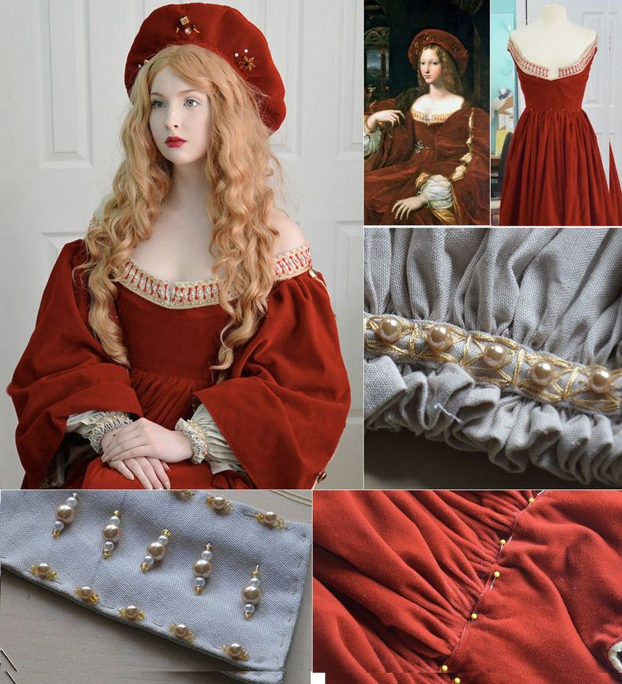 7. А это репродукция платья с полотна Джулио Романо.