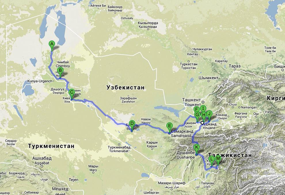 Таджики и узбеки не любят друг друга, вплоть до того, что в некоторых горных районах граница ме