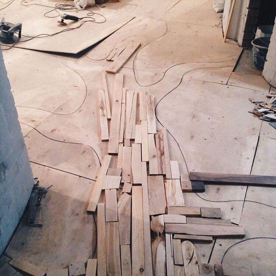 «Итак, я использовал такие породы деревьев: дуб, орех маньчжурский, абрикосовое дерево, груша, караг