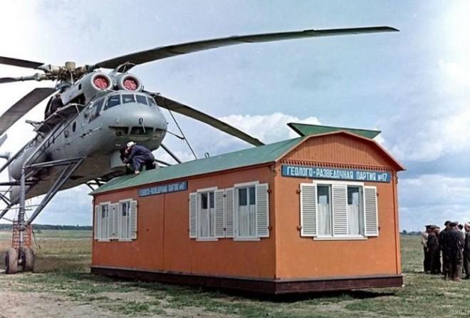 Летающий кран Ми-10 (8 фото)