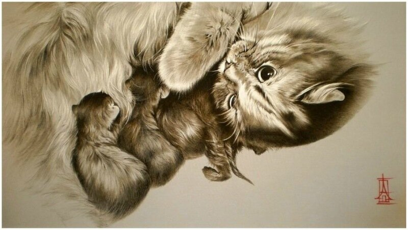 Живопись по шелку: художник Алина Осеева