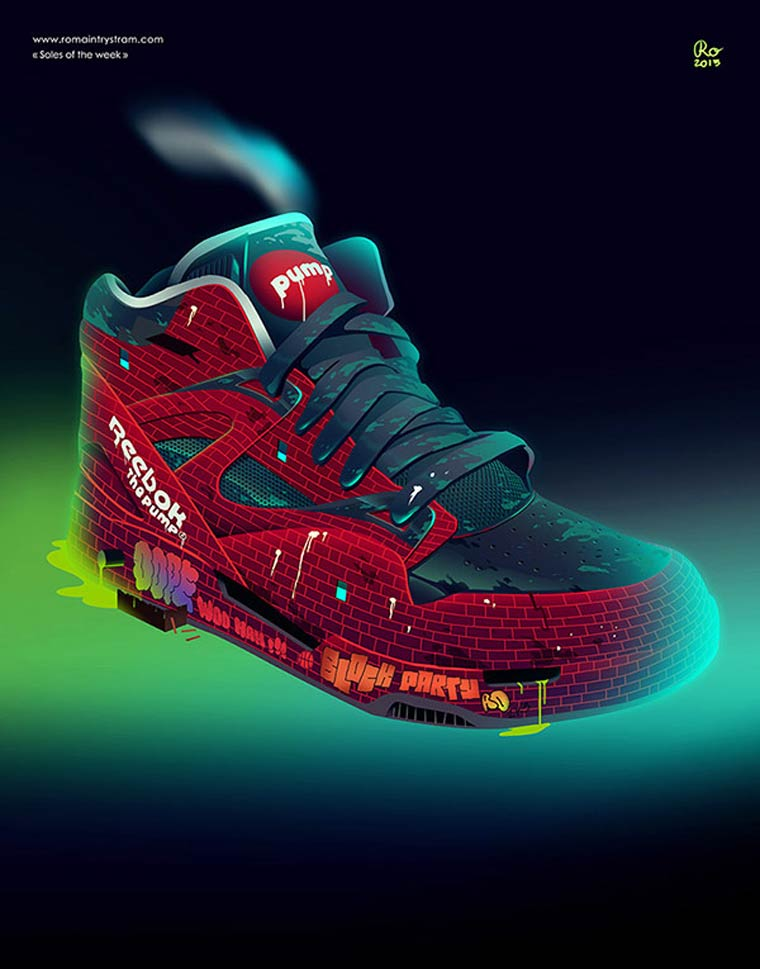 Soles of the week - Un illustrateur rend hommage aux sneakers cultes