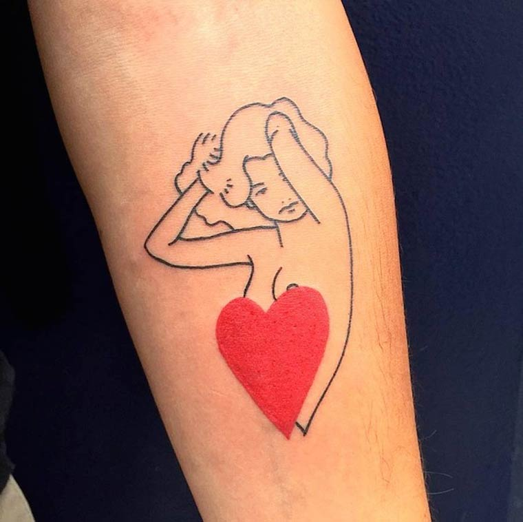 Paris Tattoo Club - When two artists imagine beautiful minimalist tattoos