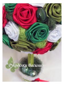 handmade, handwork, дерево счастья, европейское дерево, интерьерная композиция, оригинальные подарки, подарки, праздник, ручная работа, творчество, топиарий, топиарий своими руками, розы из атласных лент, топиарий из атласных лент