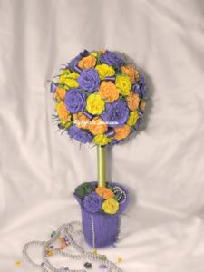 цветы из бумаги, топиарий своими руками, топиарий из роз, творчество, сувениры, ручная работа, подарки, оформление подарка, оригинальные подарки, интерьерная композиция, европейское дерево, дерево счастья, handwork, handmade