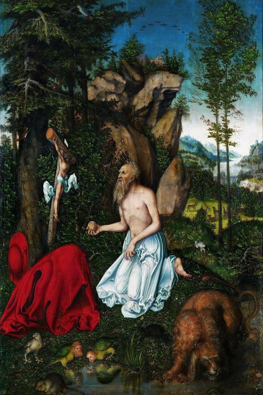 Святой Иероним (Saint Jerome)_ок.1525_88.8 х 66.5_доска, масло и темпера_Инсбрук, Тирольский музей Фердинандеум.jpg