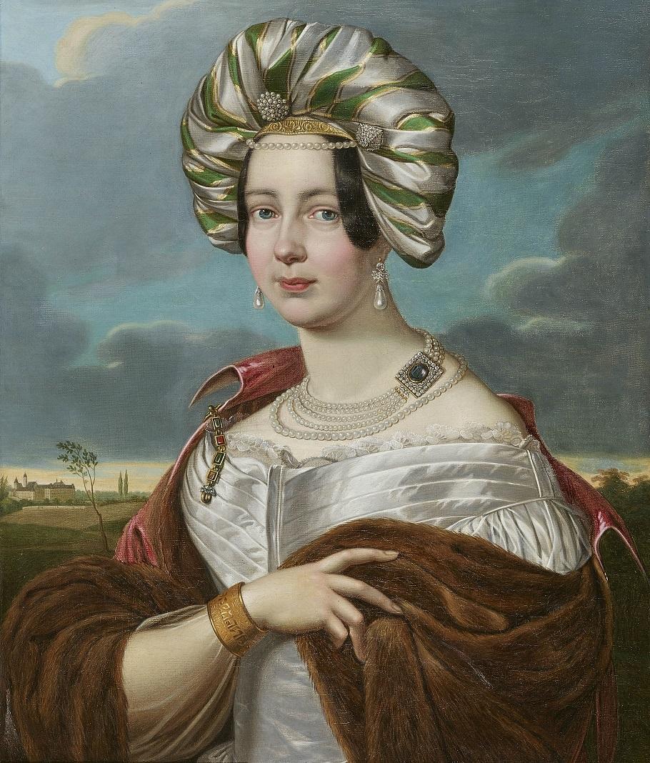 Портрет Амалии герцогиня Саксен-Альтенбург, княгиня Вюртемберга, 27 лет Ludwig Doell.Jpeg