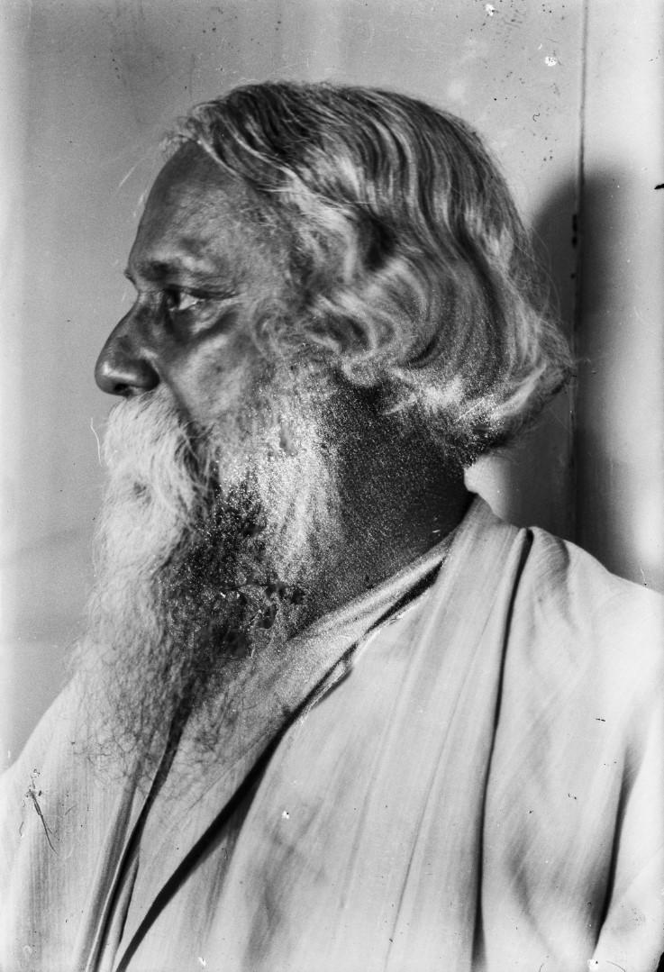 481. Антропометрический портрет бенгальского поэта и лауреат Нобелевской премии Рабиндраната Тагора