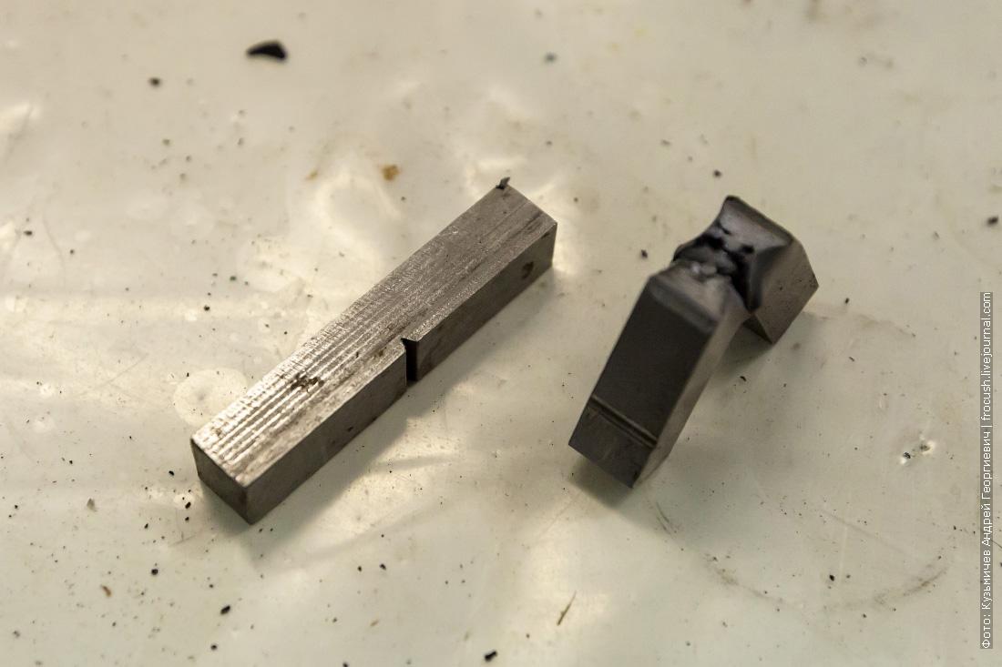 металл до и после динамического воздействия