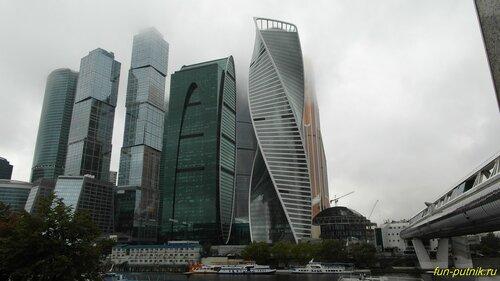 Москва-Сити и дождливый сентябрь