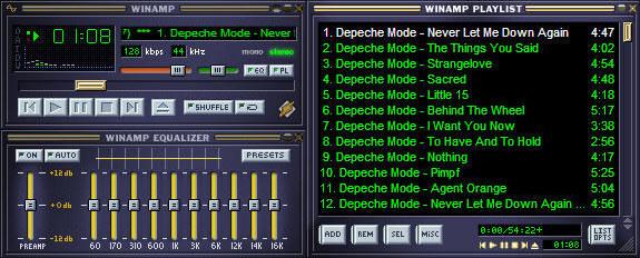 Так мы слушали mp3-файлы через Winamp.