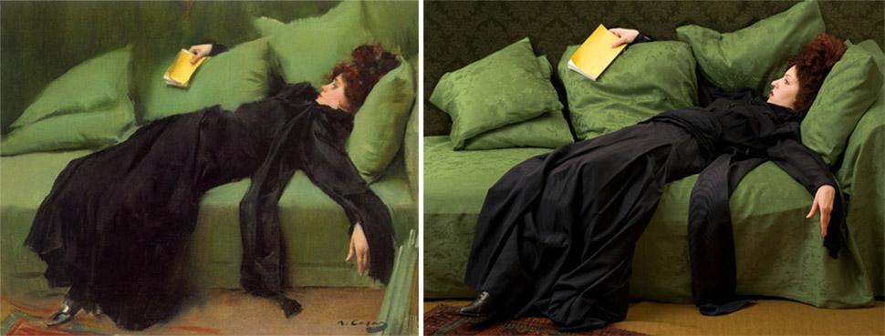 «Молодая декадентка (после бала)», Рамон Касас, 1899 год.