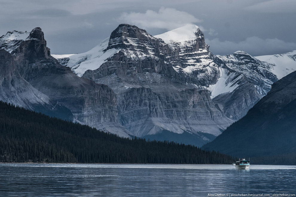 41. Озеро, куда на водопой приходят лоси. Мы видели лося, но очень далеко и быстро.