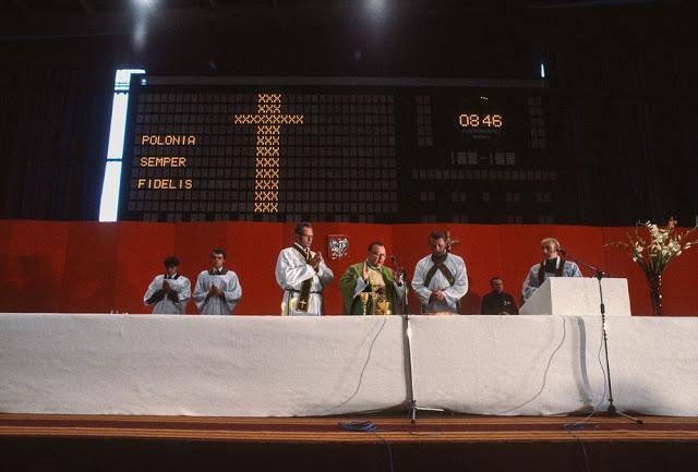 Литургия на открытии первой конвенции «Солидарности», 1981 год.