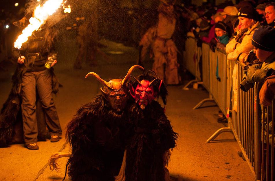 Его образ зародился в Австрии, и именно здесь ежегодно в начале декабря проводится Ночь Крампуса. По