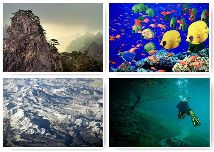 Семь «цветных» географических объектов (21 фото)