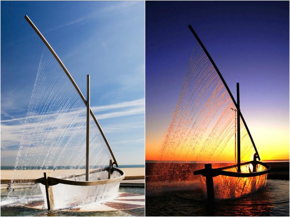 Фонтан «Лодка», Испания